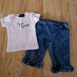 Other - Lolly Bean Tee/Faded Glory Jeans Outfit